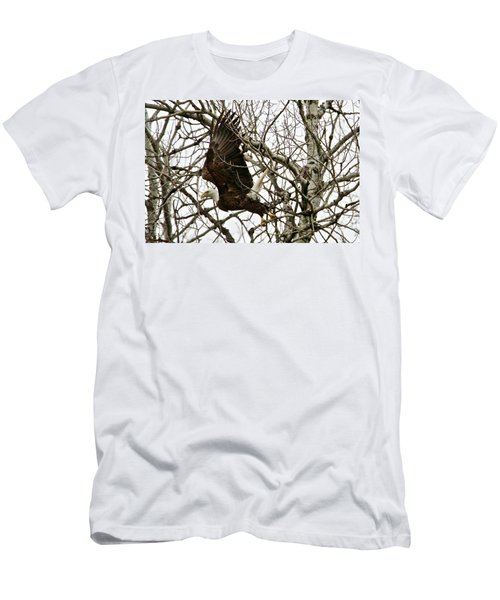 Men's T-Shirt (Slim Fit) featuring the photograph Taking Off by Michael Peychich