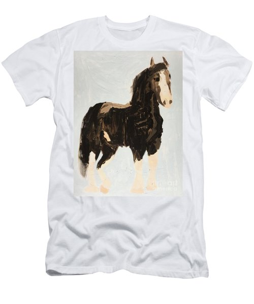 Men's T-Shirt (Athletic Fit) featuring the painting Tall Horse by Donald J Ryker III
