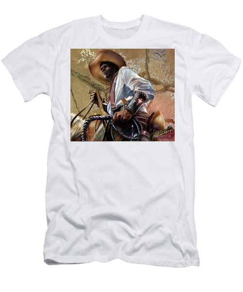 Tall In The Saddle Cowboy Pride 1a Men's T-Shirt (Athletic Fit)