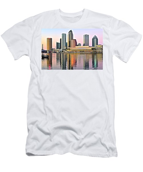 Tampa In Vivid Color Men's T-Shirt (Slim Fit) by Frozen in Time Fine Art Photography