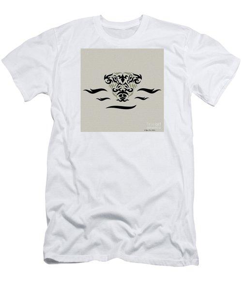 Men's T-Shirt (Slim Fit) featuring the digital art Tan Tribal Gator by Megan Dirsa-DuBois