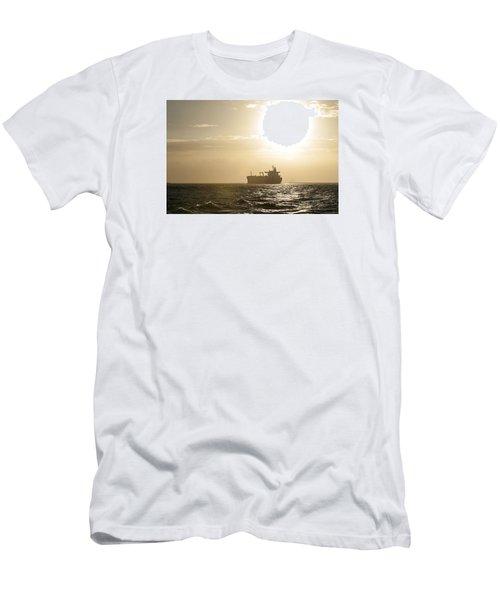 Tanker In Sun Men's T-Shirt (Athletic Fit)