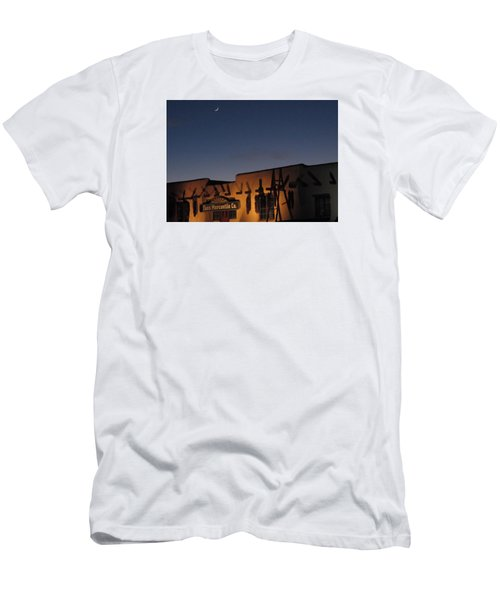 Taos Plaza Men's T-Shirt (Slim Fit) by Christopher Kirby
