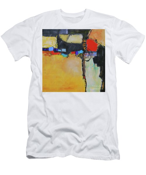 Men's T-Shirt (Slim Fit) featuring the painting Targeted by Ron Stephens