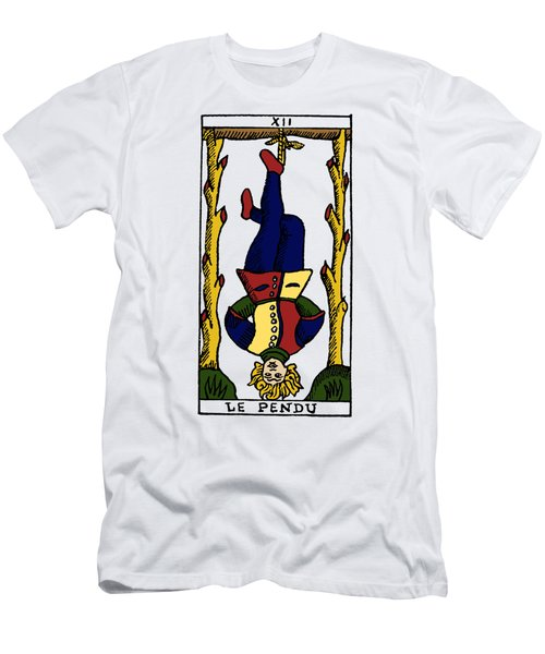 Tarot Card The Hanged Man Men's T-Shirt (Athletic Fit)