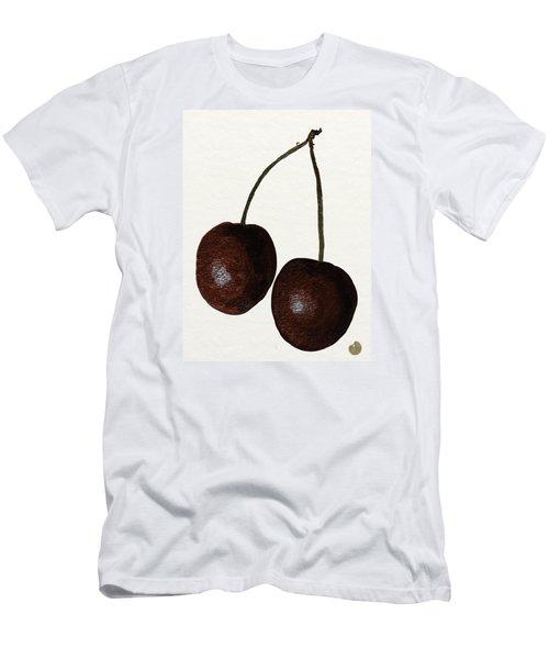 Tasty Red Cherries Men's T-Shirt (Slim Fit) by Zilpa Van der Gragt