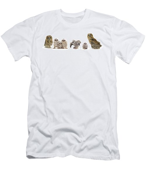 Tawny Owl Family Men's T-Shirt (Athletic Fit)