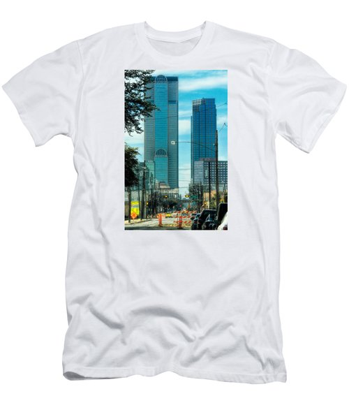 Men's T-Shirt (Slim Fit) featuring the photograph Tax Dollars At Work by Joan Bertucci