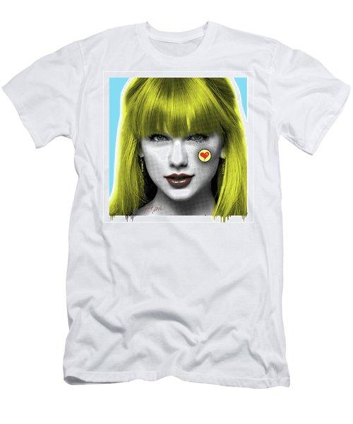 Taylor Swift, Pop Art, Portrait, Contemporary Art On Canvas, Famous Celebrities Men's T-Shirt (Slim Fit) by Dr Eight Love