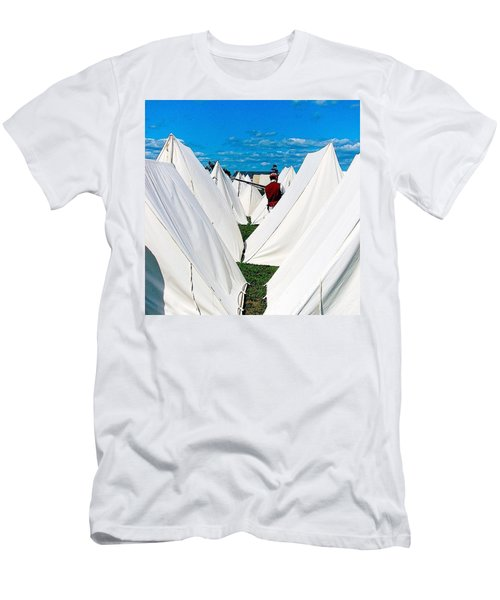Field Of Tents Men's T-Shirt (Athletic Fit)