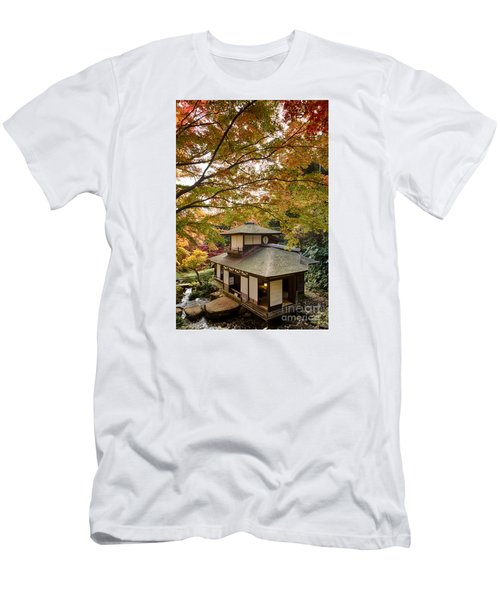 Men's T-Shirt (Slim Fit) featuring the photograph Tea Ceremony Room by Tad Kanazaki