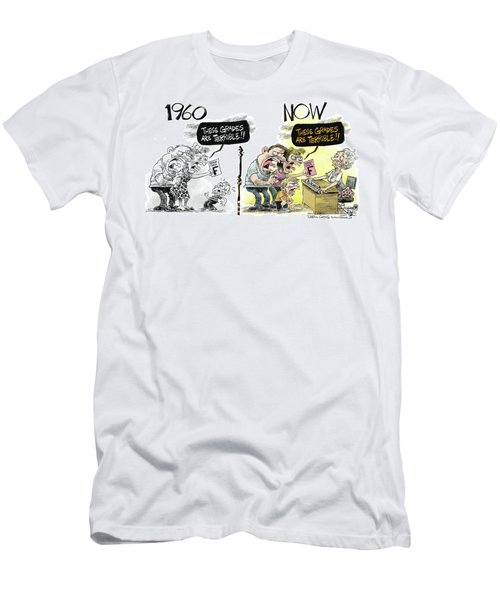 Teachers Then And Now Men's T-Shirt (Athletic Fit)