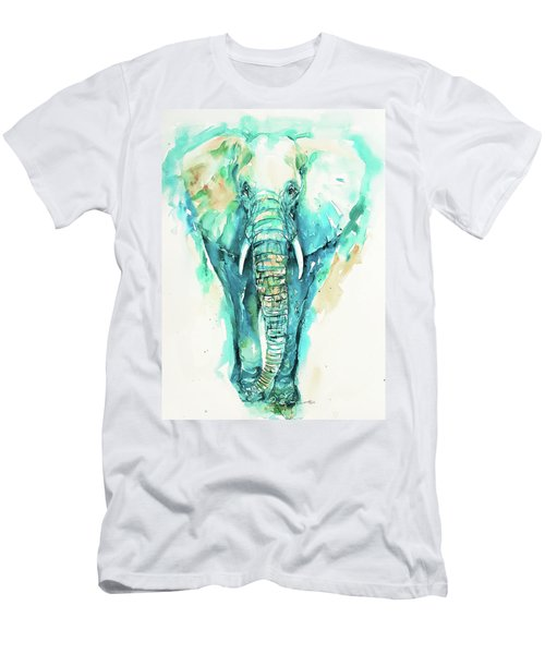 Teal N Turquoise Elephant Men's T-Shirt (Athletic Fit)