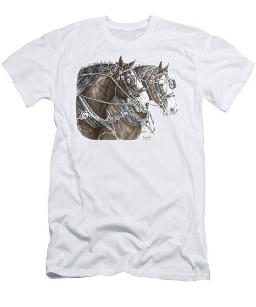 Team Work - Clydesdale Draft Horse Print Color Tinted Men's T-Shirt (Athletic Fit)