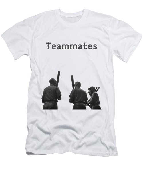 Teammates Poster - Boston Red Sox Men's T-Shirt (Slim Fit) by Joann Vitali