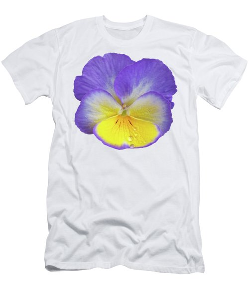 Tears Of Joy - Purple Pansy Men's T-Shirt (Athletic Fit)