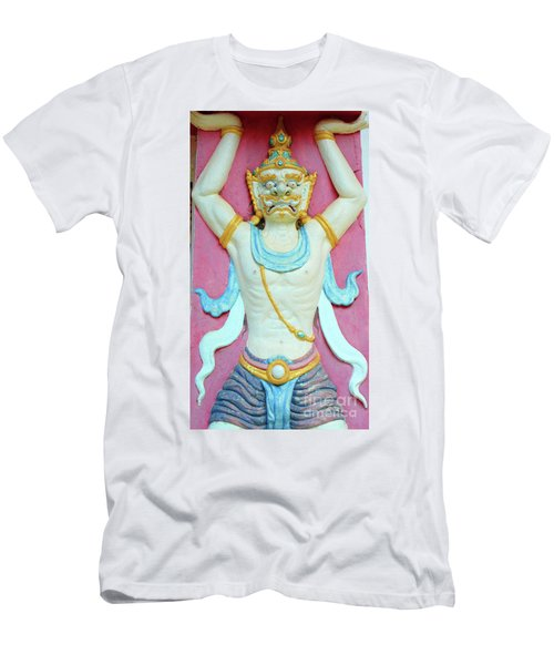 Temple Art In Thailand Men's T-Shirt (Athletic Fit)