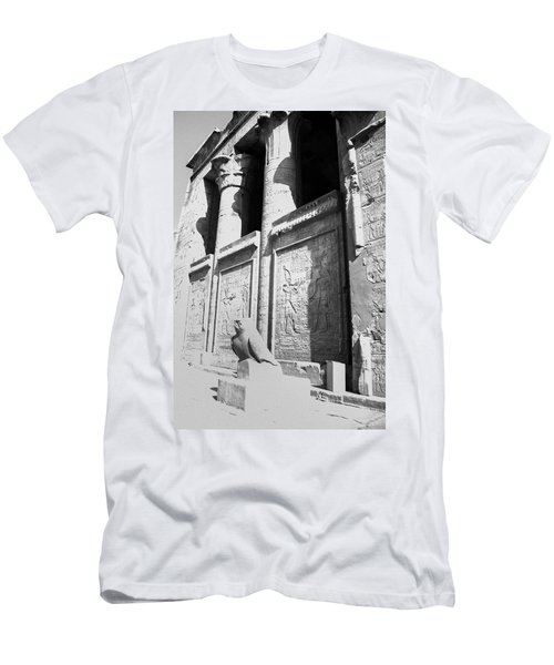 Men's T-Shirt (Athletic Fit) featuring the photograph Temple Of Horus by Silvia Bruno