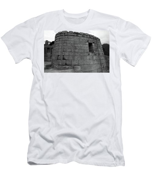 Men's T-Shirt (Slim Fit) featuring the photograph Temple Of The Sun, Machu Picchu, Peru by Aidan Moran