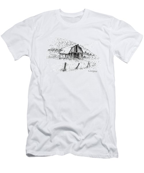 Tennessee Hills With Barn Men's T-Shirt (Athletic Fit)