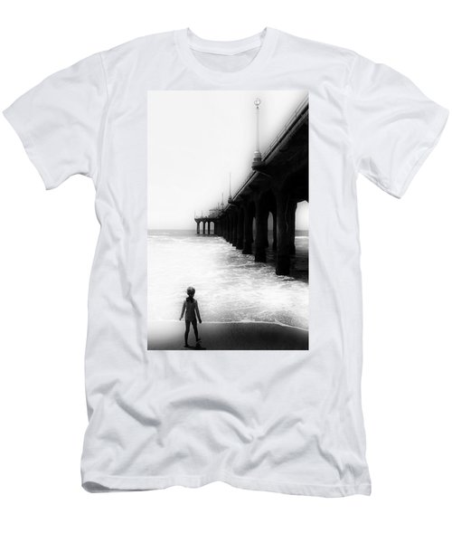 Men's T-Shirt (Athletic Fit) featuring the photograph Testing The Waters by Michael Hope