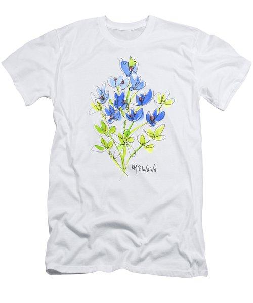 Texas Bluebonnet Botanical Men's T-Shirt (Athletic Fit)