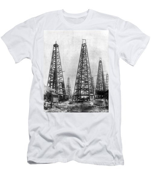 Texas: Oil Derricks, C1901 Men's T-Shirt (Athletic Fit)