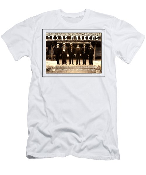Men's T-Shirt (Athletic Fit) featuring the photograph Texas Rangers Company B At Their Dallas Headquarters 1938 by Peter Gumaer Ogden