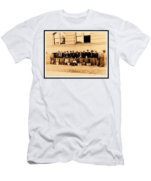 Men's T-Shirt (Athletic Fit) featuring the photograph Texas Rangers Grand Haul Of Bootleggers 1922 Near Tyler Texas by Peter Gumaer Ogden