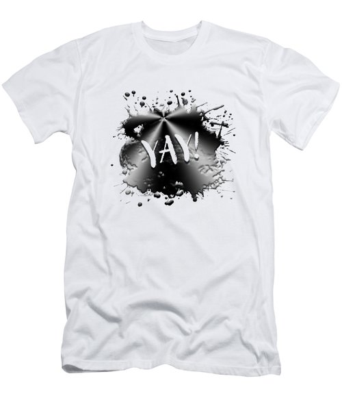 Text Art Yay Men's T-Shirt (Athletic Fit)