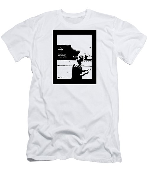 Text Men's T-Shirt (Athletic Fit)