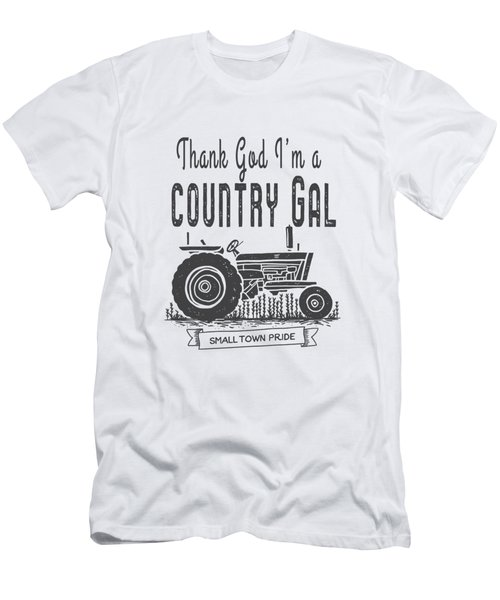 Thank God I Am A Country Gal Men's T-Shirt (Athletic Fit)