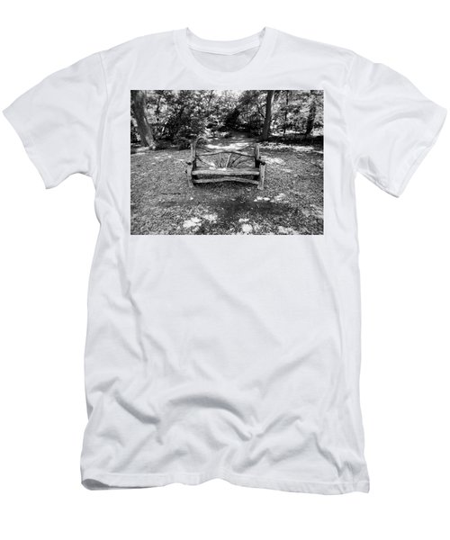 Men's T-Shirt (Athletic Fit) featuring the photograph That Weird Bench One by Robbie Masso