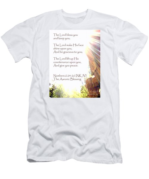 The Aaronic Blessing And True Light Lower Emerald Pools Zion Men's T-Shirt (Athletic Fit)