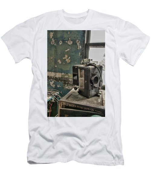 Men's T-Shirt (Athletic Fit) featuring the photograph The Abandoned Projector by Kristia Adams