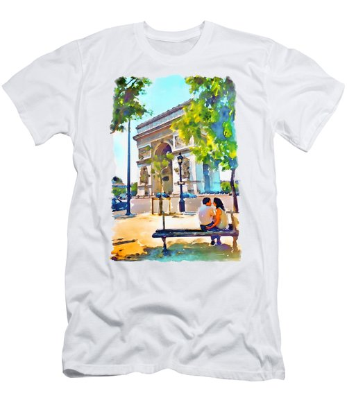 The Arc De Triomphe Paris Men's T-Shirt (Athletic Fit)