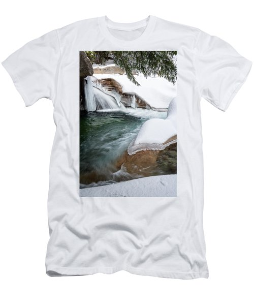 Men's T-Shirt (Athletic Fit) featuring the photograph The Basin Side View Nh by Michael Hubley