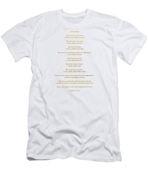 The Beatitudes Gospel Of Matthew Men's T-Shirt (Athletic Fit)