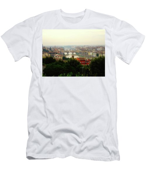 Men's T-Shirt (Slim Fit) featuring the photograph The Beauty Of Florence  by Alan Lakin