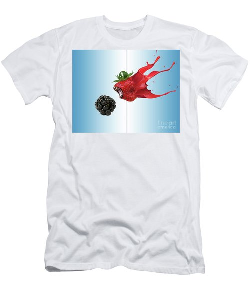 Men's T-Shirt (Slim Fit) featuring the photograph The Berries by Juli Scalzi
