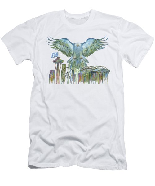 The Blue And Green Overlay Men's T-Shirt (Slim Fit) by Julie Senf