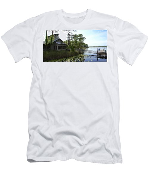 The Boathouse At Watercolor Men's T-Shirt (Slim Fit) by Megan Cohen