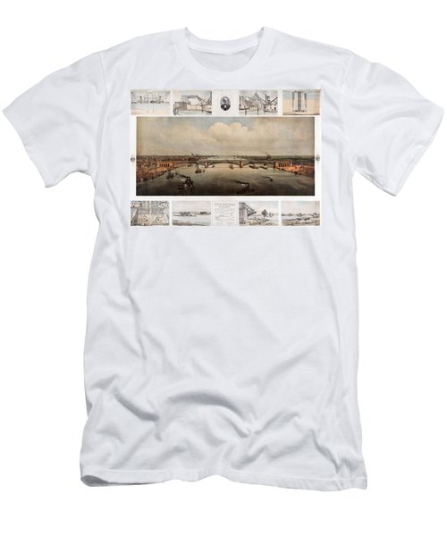 The Bridge At St. Louis, Missouri, Ca. 1874 Men's T-Shirt (Athletic Fit)