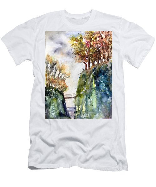 The Bridge Between Two Worlds Men's T-Shirt (Athletic Fit)
