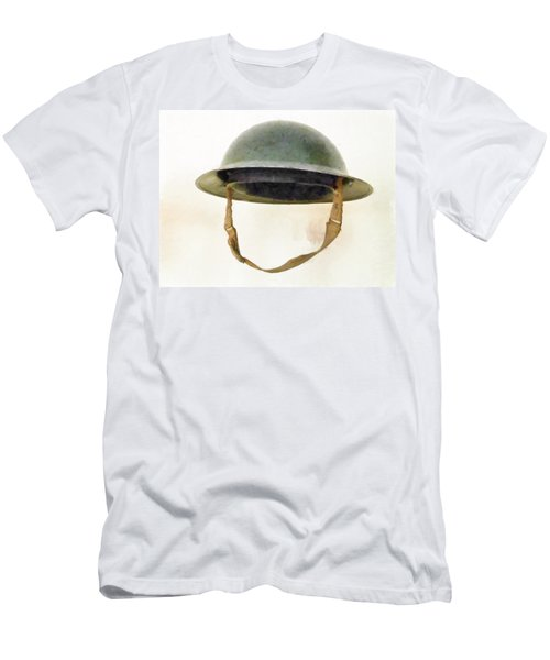 The British Brodie Helmet  Men's T-Shirt (Athletic Fit)