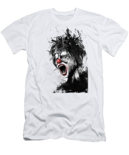 The Clown Men's T-Shirt (Slim Fit) by Balazs Solti
