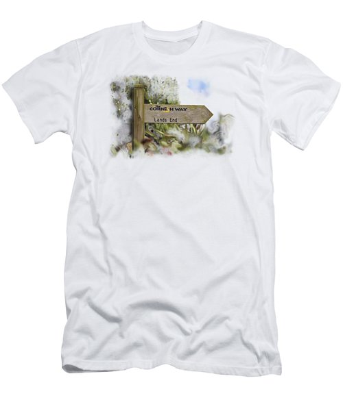 The Cornish Way On Transparent Background Men's T-Shirt (Slim Fit) by Terri Waters