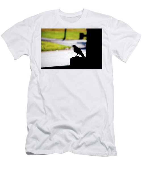 Men's T-Shirt (Slim Fit) featuring the photograph The Crow Awaits by Karol Livote
