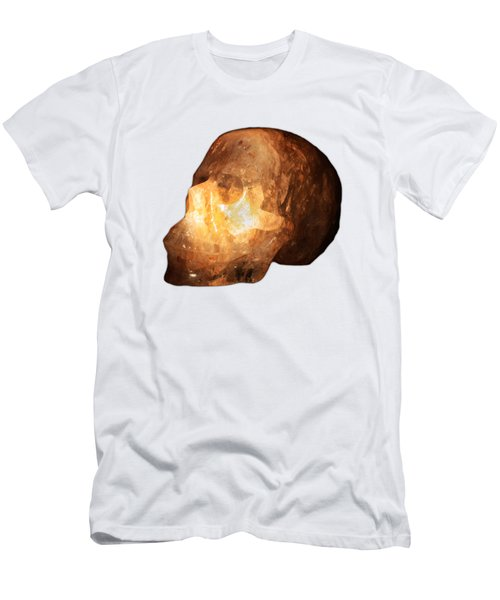 The Crystal Skull On Transparent Background Men's T-Shirt (Slim Fit) by Terri Waters