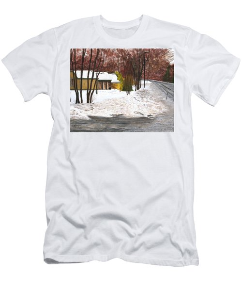 Men's T-Shirt (Slim Fit) featuring the painting The Day After by Stuart B Yaeger